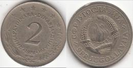 Yugoslavia 2 Dinari 1976 Km#57 - Used - Yugoslavia
