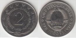 Yugoslavia 2 Dinari 1979 Km#57 - Used - Yugoslavia