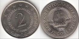 Yugoslavia 2 Dinari 1980 Km#57 - Used - Yugoslavia