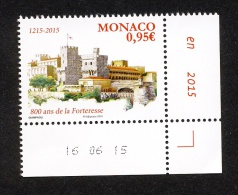 Monaco 2015 - Yv N° 2991 ** - 800 ANS DE LA FORTERESSE - Unused Stamps