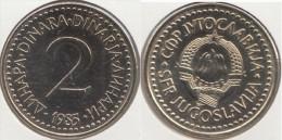 Yugoslavia 2 Dinari 1985 Km#87 - Used - Yugoslavia