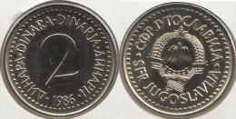 Yugoslavia 2 Dinari 1986 Km#87 - Used - Yugoslavia
