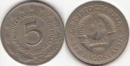 Yugoslavia 5 Dinari 1972 Km#58 - Used - Yugoslavia