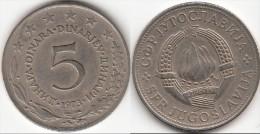 Yugoslavia 5 Dinari 1973 Km#58 - Used - Yugoslavia