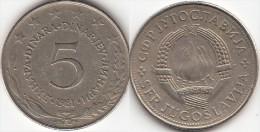 Yugoslavia 5 Dinari 1981 Km#58 - Used - Yugoslavia