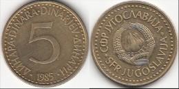 Yugoslavia 5 Dinari 1985 Km#88 - Used - Yugoslavia