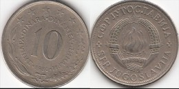 Yugoslavia 10 Dinari 1980 Km#62 - Used - Yugoslavia