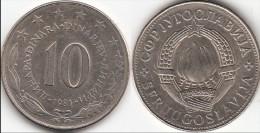Yugoslavia 10 Dinari 1981 Km#62 - Used - Yougoslavie