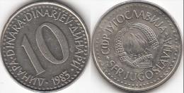Yugoslavia 10 Dinari 1983 KM#89- Used - Jugoslavia