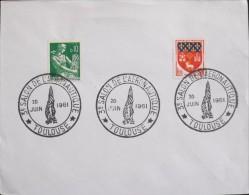 FRANCE - 1961 - 3e Salon De L'Aéronotique - Toulouse Le 20.06.1961 - En T.B.E - - Commemorative Labels