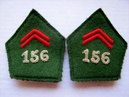 ANCIEN INSIGNE LOT LOSANGE DE COL  MODELE 1956 DU 156 RALP ??? A IDENTIFIER  ETAT EXCELLENT - Armée De Terre
