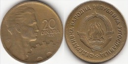 Yugoslavia 20 Dinari 1955 Km#34 - Used - Jugoslavia