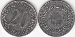Yugoslavia 20 Dinari 1986 Km#112- Used - Jugoslavia