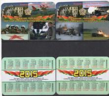 Belarus 2015  2 V    Military Academy - Calendarios