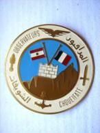 RARE ANCIEN INSIGNE ARMEE INTERARMES OBSERVATEURS OPEX LIBAN ETAT EXCELLENT - Armée De Terre