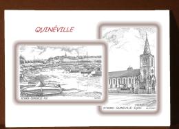 CP M 50400-50439 - CARTE POSTALE DESSIN 2 VUES - 50 QUINEVILLE - France