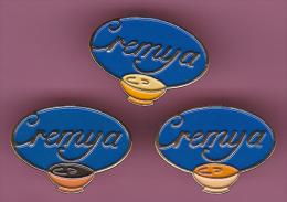 45916-lot De 3 Pin's.Cremya.creme Dessert. - Food