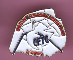 45919- Pin's.syndicat CFTC Paris. .. - Villes