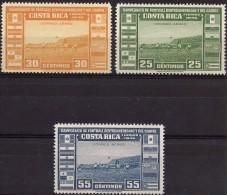 COSTA RICA SOCCER CHAMPIONSHIP Sc C121-C123 MNH 1946