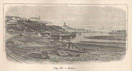 A5818 Bilbao - Veduta - Xilografia - Stampa Antica Del 1895 - Engraving - Prints & Engravings