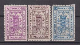 Melilla 1937 Tres Sellos,nuevo                 #1230 - Emissions Nationalistes