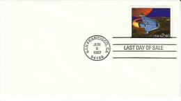 #2543 $2.90 Priority Mail Rate Space Shuttle 'Last Day Of Sale' Cover 1993 US Postage Stamp - Covers & Documents