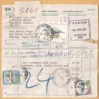 COMMEMORATIVO + ALTO VALORE  SU PACCO POSTALE _ CANADA - ITALIA - 1981-90: Storia Postale