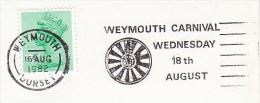 1982 COVER Slogan WEYMOUTH CARNIVAL Illus ROUND TABLE  Gb   Stamps - Carnival
