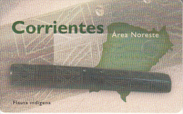 ARGENTINA(chip) - Corrientes/Flauta Indigena, Telefonica Telecard(F 98), Chip GEM1a, 02/98, Used - Argentina