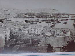 XIX è , ITALIE, GENES / GENOVA VEDUTE , PORTO Photographie  Originale De 1878 , OLD REAL PHOTO Recto Verso  Prix Fixe - Photos