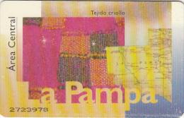 ARGENTINA(chip) - La Pampa, Telefonica Telecard(F 02), Chip GEM1a, Used - Argentina