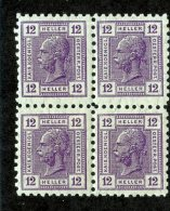 Austria 1906, Ank 2016 # 135, Block of 4, Mint