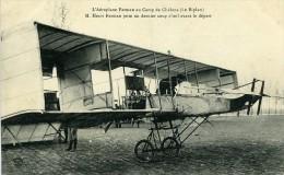 Aviation Henry Farman Biplan Au Camp De Chalons Carte Postale Ancienne 1908 - ....-1914: Précurseurs