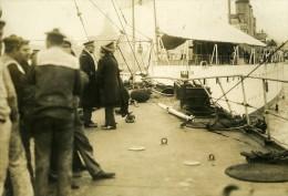 France Le Havre ? Bateaux A Quai Berck Ancienne Photo 1920 - Boats