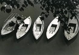 Inde Scène De La Vie Quotidienne Bateaux Ancienne Photo 1960 - Photos