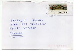 Espagne--2004--Lettre D´Espagne (CACERES) Pour La France --vignette Affranchissement San Sebastian-Donostia 0.51€ - 1931-Aujourd'hui: II. République - ....Juan Carlos I