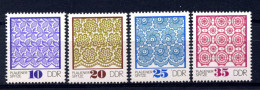 DDR 1974: Plauener Spitze; Postfrisch/MNH - Textil