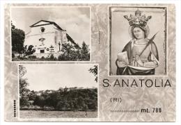 RIETI S. ANATOLIA MT.790 VEDUTA SANTUARIO PANORAMA EDIT. SISTEMA BREVETTATO CIRCULEE CPA 1973 TBE GECKO - Rieti
