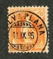 3353  Swiss 1895   Mi.#58YC (o) Scott.#82a    Cat. 3.€ -Offers Welcome!- - Gebraucht