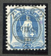 4889  Swiss 1908  Mi.#89D (o)  Zum. #95A   Cat. 25.€  -Offers Welcome!- - 1882-1906 Coat Of Arms, Standing Helvetia & UPU