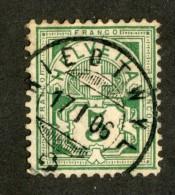 3379  Swiss 1906   Mi.#84 (o) Scott.#115    Cat. .80€ -Offers Welcome!- - Gebruikt