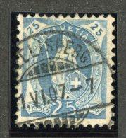 4899  Swiss 1907  Mi.#81C (o)  Zum. #93A   Cat. 2.40€  -Offers Welcome!- - 1882-1906 Coat Of Arms, Standing Helvetia & UPU