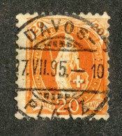 3340  Swiss 1895   Mi.#58YC (o) Scott.#82a    Cat. 3.€ -Offers Welcome!- - Gebraucht