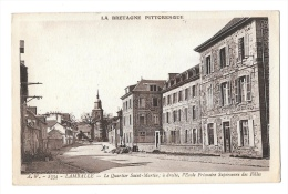 (5223-22) Lamballe - Le Quartier Saint Martin à Droite L´Ecole Primaire Supérieur Des Filles - Lamballe