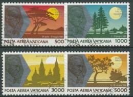 Vatikan 1990 Die Weltreisen Von Papst Johannes Paul II. 1014/17 Gestempelt - Used Stamps