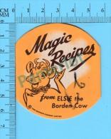 5 Recettes Anglais Et Français (Magic Recipes From Elsi The Borden Cow ,  Vintage )  5 Scans - Recettes De Cuisine