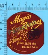 4 Recettes Anglais Et Français (Magic Recipes From Elsi The Borden Cow ,  Vintage  ) 4  Scans - Recettes De Cuisine