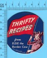 6 Recettes Anglais Et Français ( Thrifty  Recipes From Elsi The Borden Cow , 1942 , Vintage ) 5  Scans - Recettes De Cuisine