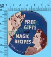 4 Recettes Anglais Et Français (Free Gifts And Magic Recipes From Elsi The Borden Cow , 1941 , Vintage ) 4 Scans - Recettes De Cuisine