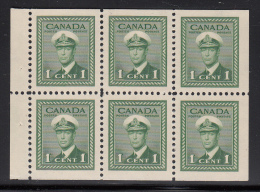 Canada MH Scott #249b Booklet Pane Of 6 1c George VI War Issue - Pages De Carnets